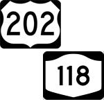 Route 202 and Route 118
