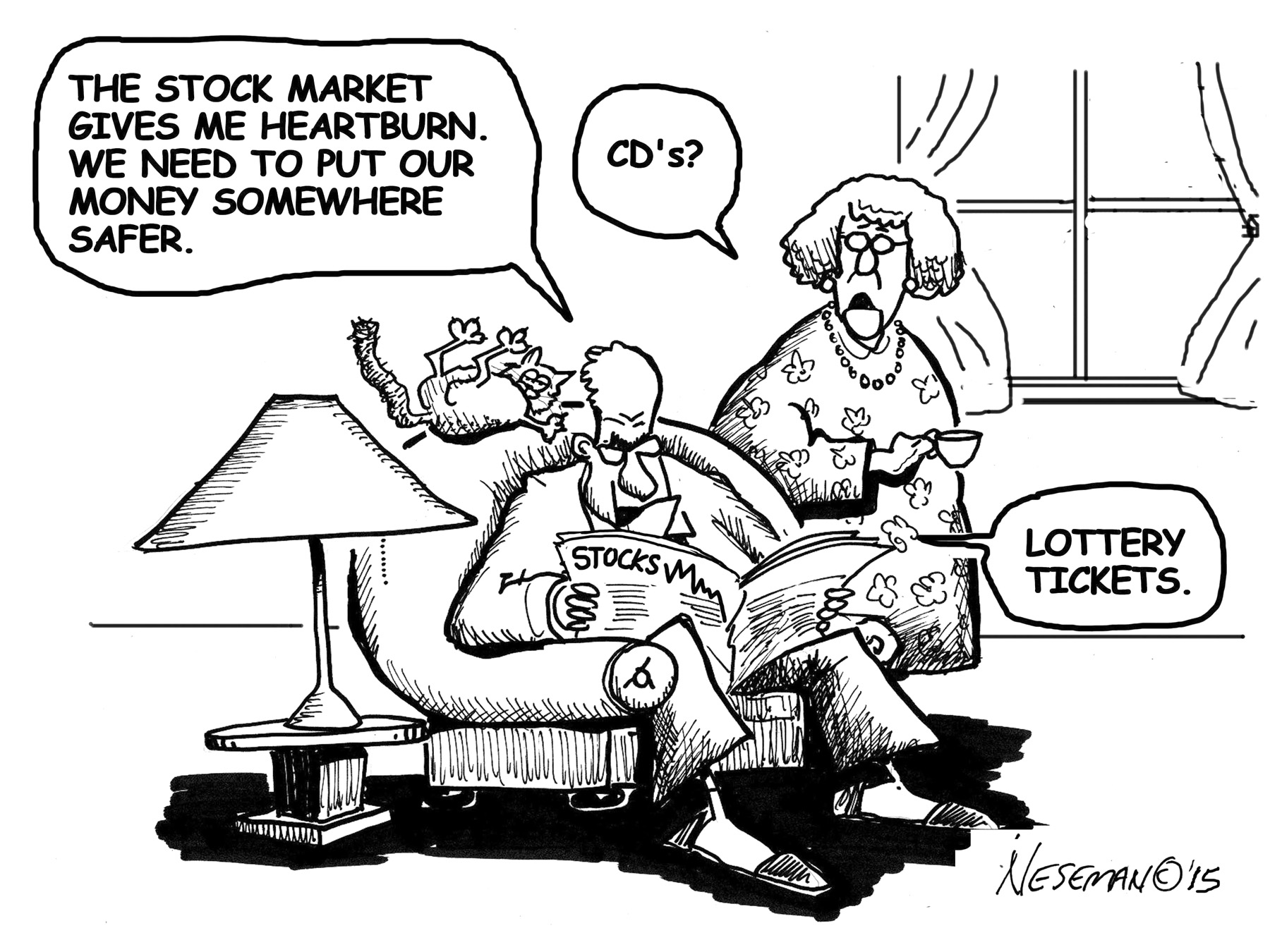Cartoon - stock market