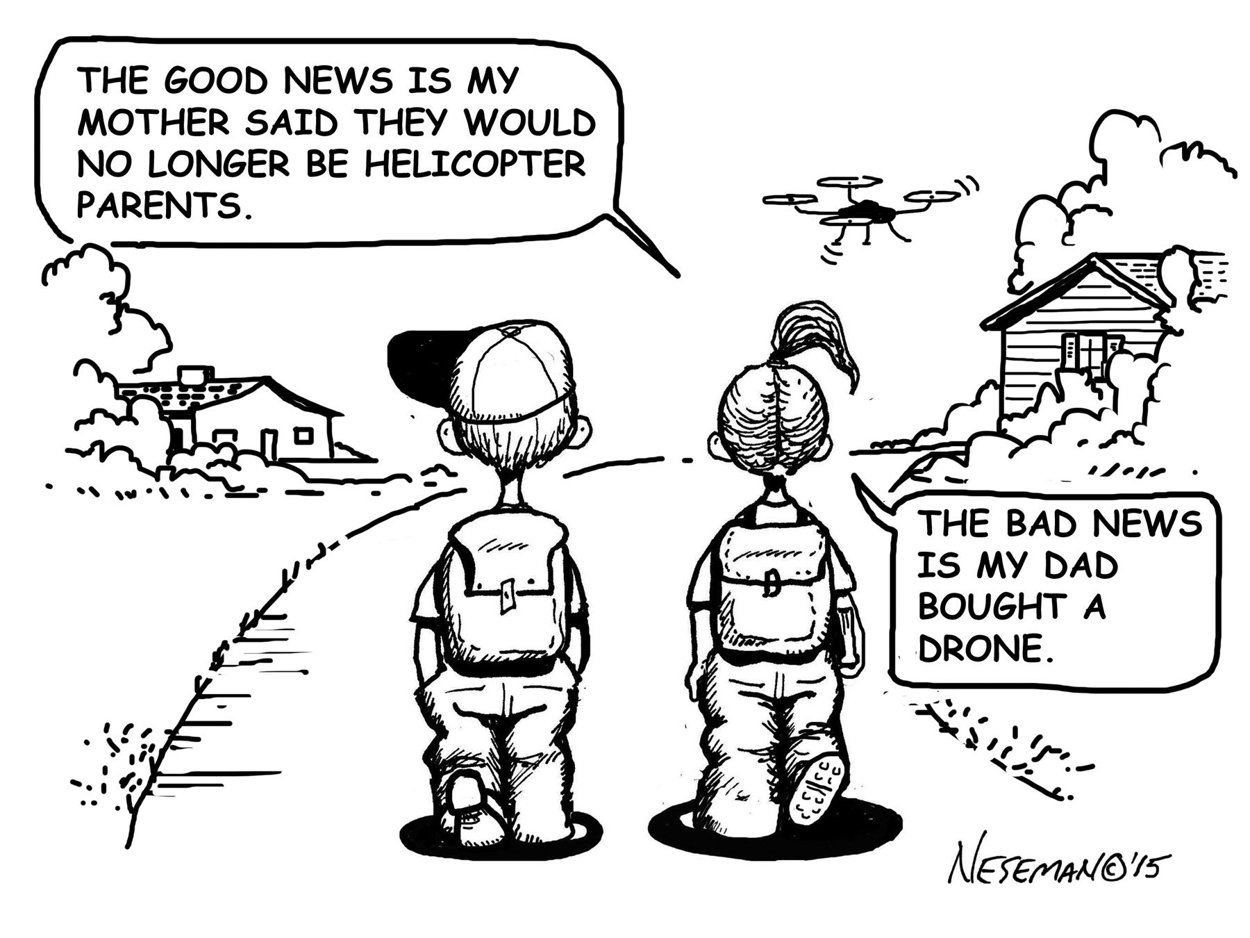 Cartoon-Drone