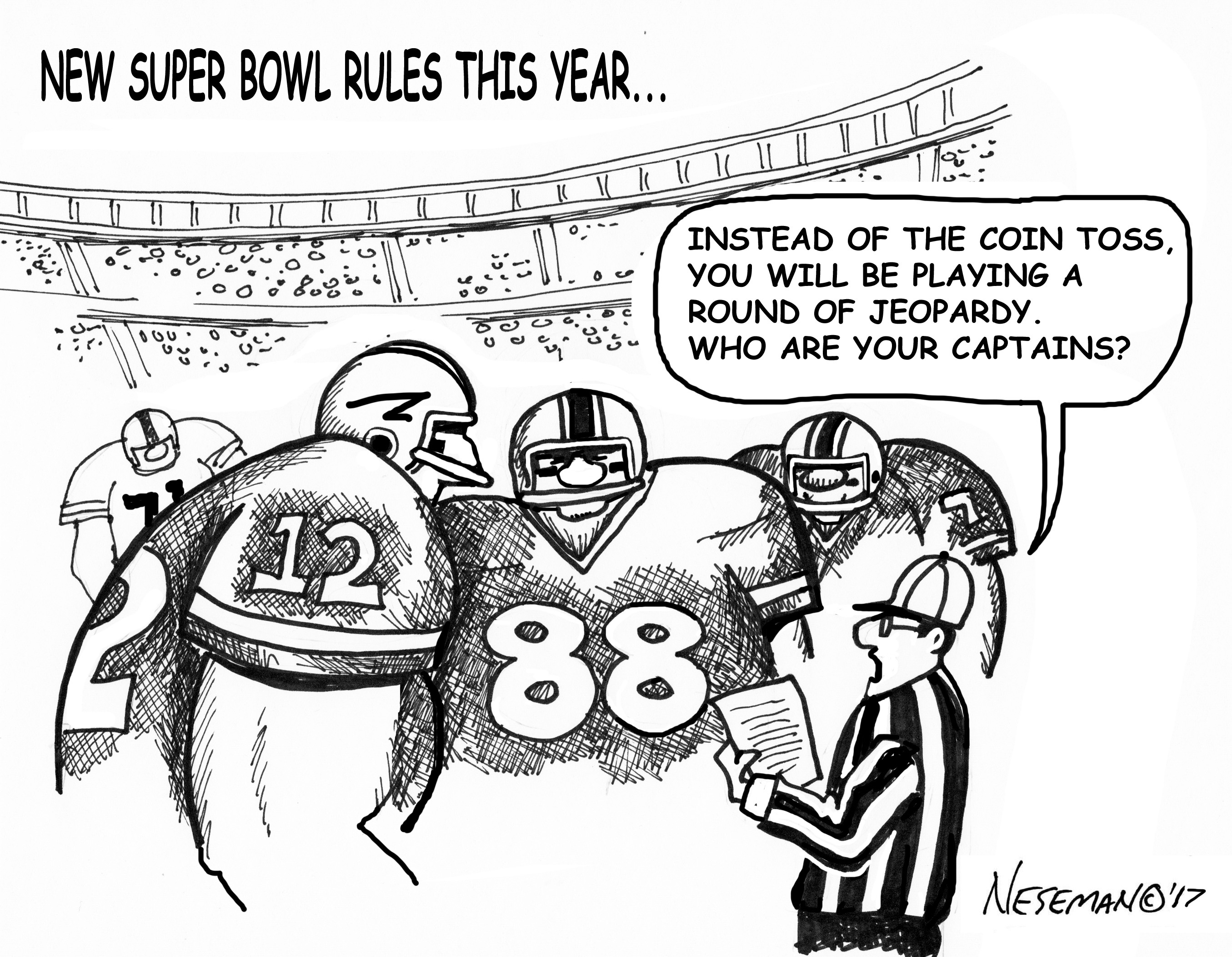 Cartoon-super bowl rules