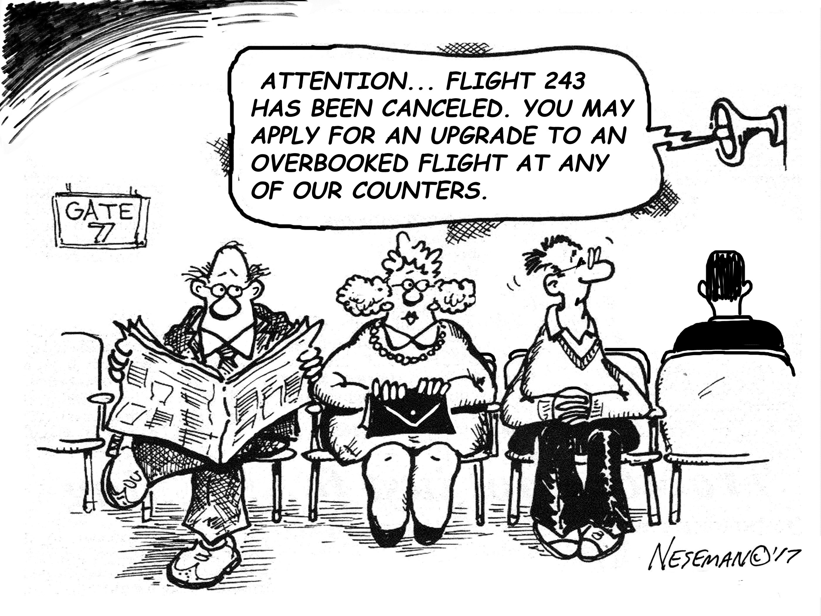 Cartoon-flight cancelled