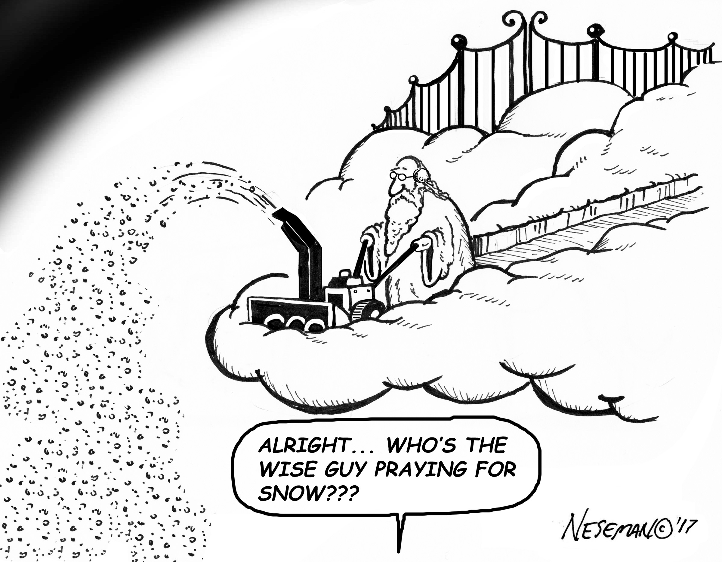 Cartoon-pray for snow